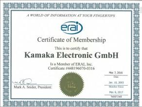 ERAI certificate 2016