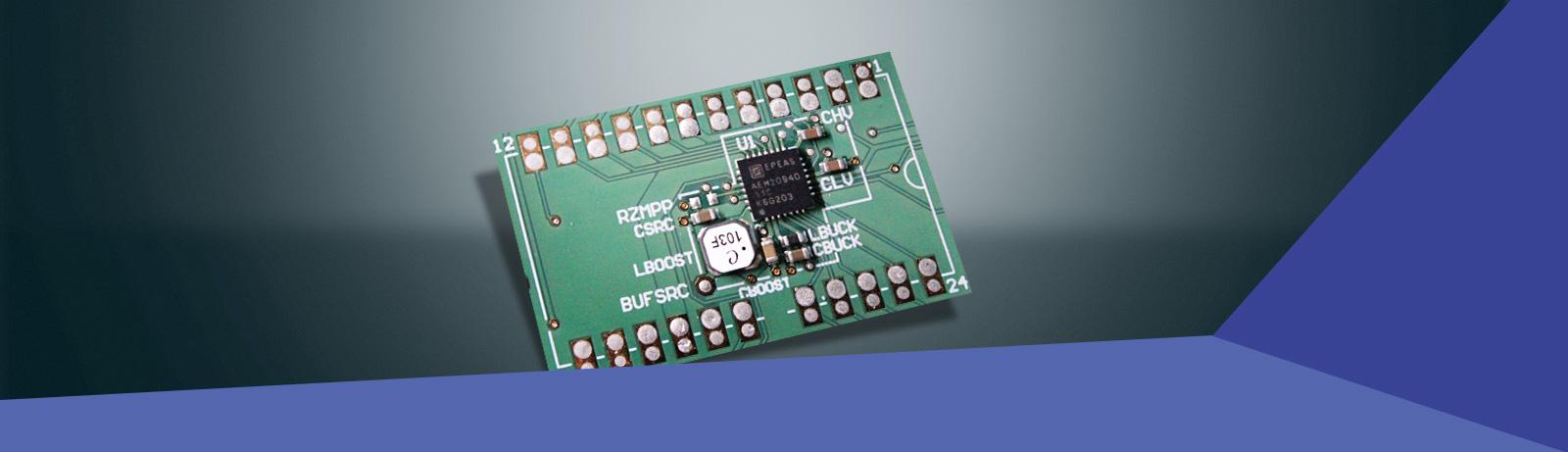 Hocheffizienter Ambient Energy Manager mit reguliertem Dual-Ausgang für TEG Quellen mit optionaler Primärbatterie